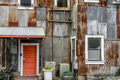 Photograph - Orange Door by Bill Gallagher