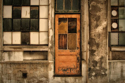 Photograph - Orange Door With Other Rectangles Img 1139  by Greg Kluempers