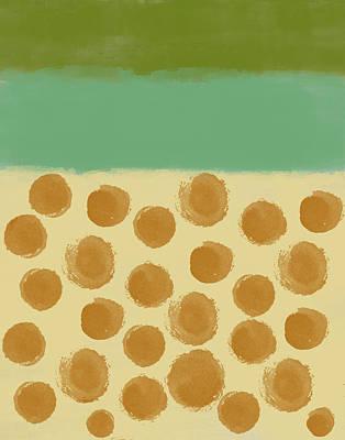 Orange Dots Art Print by Aged Pixel
