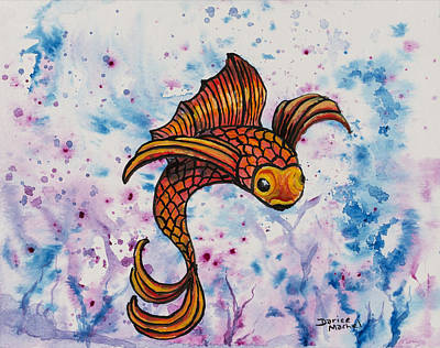 Painting - Orange Fish by Darice Machel McGuire