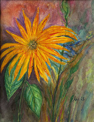 Painting - Orange Flower by Anais DelaVega