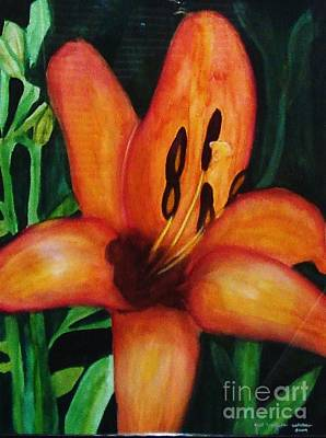 Painting - Beautiful Lily Flower by Yael VanGruber