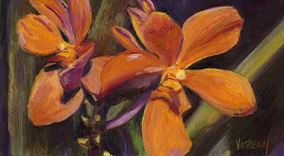 Haleiwa Painting - Orange Flowers by Stacy Vosberg