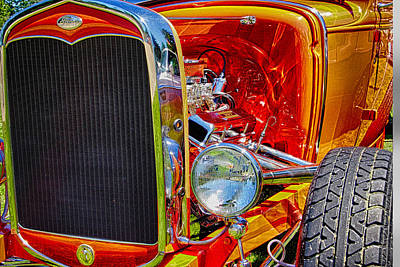 Photograph - Orange Ford by Ron Roberts