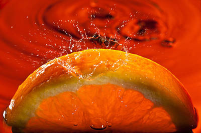 Orange Freshsplash 2 Original by Steve Gadomski