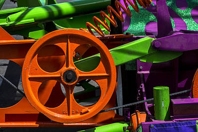 Gear Photograph - Orange Gear by Garry Gay