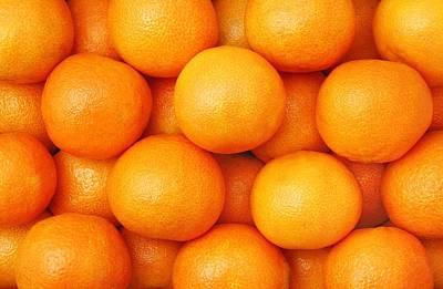 Orange Geometry Art Print