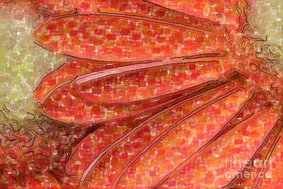 Digital Art - Orange Gerber Daisy Watercolor by Jill Lang