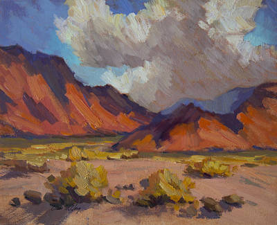 Painting - Orange Glow La Quinta Cove by Diane McClary