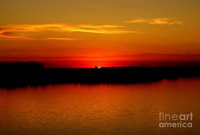 Orange Glow Print by Lori Tordsen