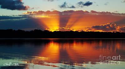 Orange Gods - Sunrise Panorama Art Print by Geoff Childs