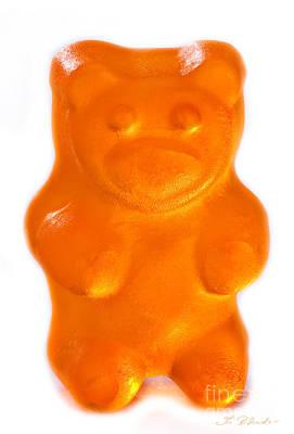 Orange Gummy Bear Art Print