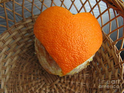 Photograph - Orange Heart In The Basket by Ausra Huntington nee Paulauskaite