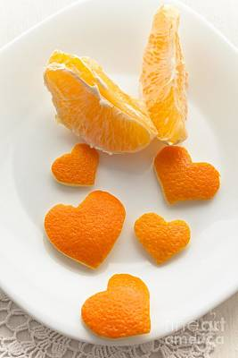 Photograph - Orange Heart  by Sviatlana Kandybovich