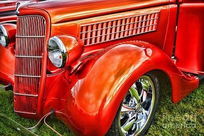 Soap Suds - Orange Hood and Fender-HDR by Randy Harris