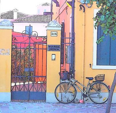 Venice House Photograph - Orange House Burano Venice  by Jan Matson