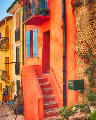Photograph - Orange House by Joan Herwig