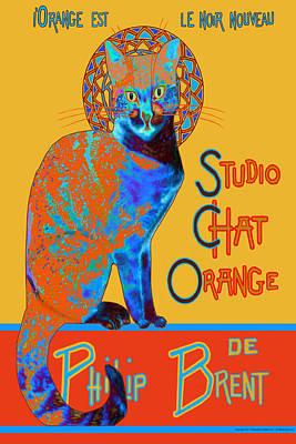 Digital Art - Orange Is The New Black by Philip Brent