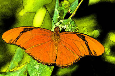 Digital Art - Orange Julia by Photographic Art by Russel Ray Photos