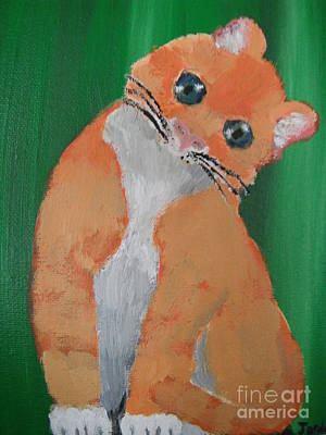 Orange Kitty Original by  Jordan Allen