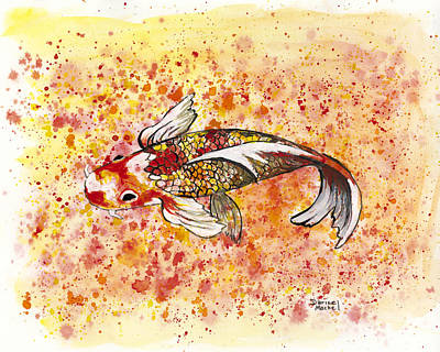 Painting - Orange Koi by Darice Machel McGuire