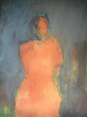 Painting - Orange Lady by Andrea Friedell