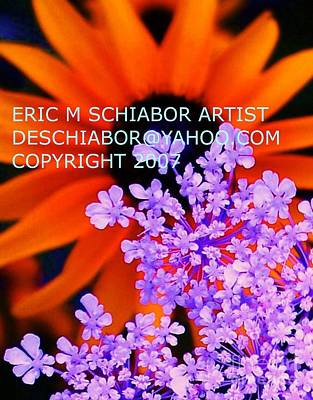 Orange Lavender Flower Art Print