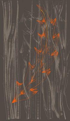 Orange Leaf Art Print by Lori Ulatowski
