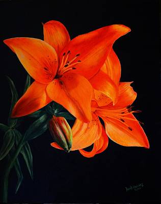 Painting - Orange Lilly by David Hawkes