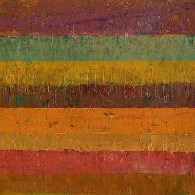 Orange Line Art Print by Michelle Calkins