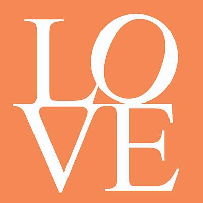 Orange Love Art Print