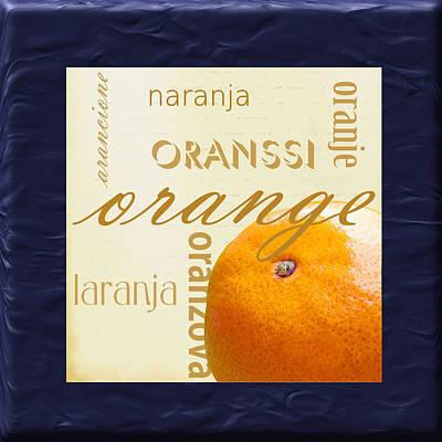 Translate Digital Art - Orange by Marti Snider