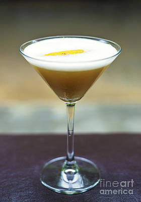 Martini Royalty-Free and Rights-Managed Images - Orange Martini Alcoholic Cocktail Drink  by Jacek Malipan