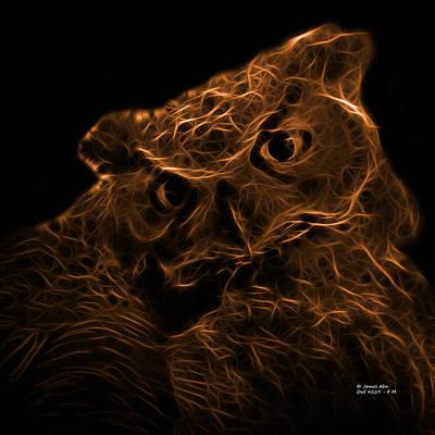 Animals Digital Art - Orange Owl 4229 - F M by James Ahn