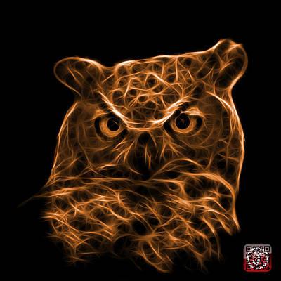 Digital Art - Orange Owl 4436 - F M by James Ahn