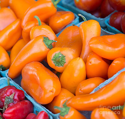 Photograph - Orange Peppers by Rebecca Cozart