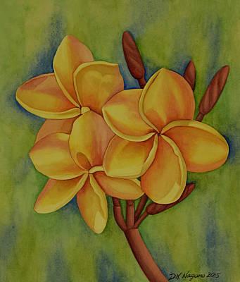 Painting - Orange Plumeria by DK Nagano