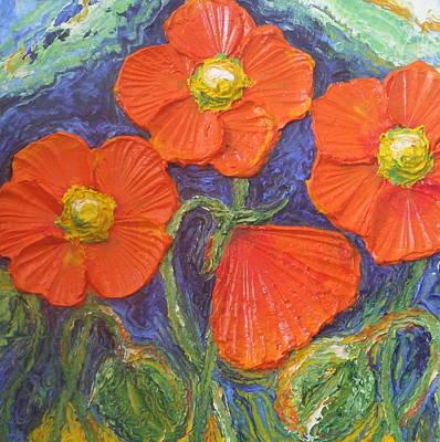 Orange Poppies Art Print by Paris Wyatt Llanso