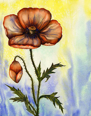 Painting - Orange Poppy by Diane Ferron