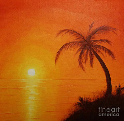 Art Print featuring the painting Orange Reflections by Arlene Sundby