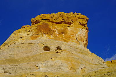 Orange Rock On Top The Hill Art Print