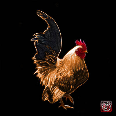 Digital Art - Orange Rooster Pop Art - 4602 - Bb - James Ahn by James Ahn