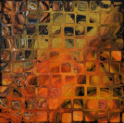 Orange Sea  Art Print by Andrada Anghel
