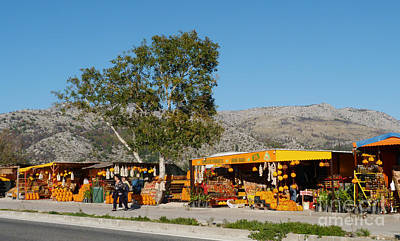 Photograph - Orange Sellers - Opuzen - Croatia by Phil Banks