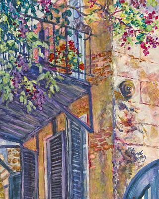 Charleston Houses Painting - Orange Sherbert by Alice Grimsley