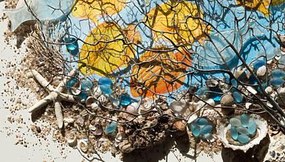 Sea Weed Mixed Media - Orange Shoal 1 by Dawn Broom