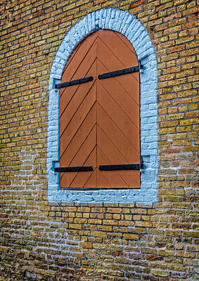 Photograph - Orange Shuttered Window by James Hammond