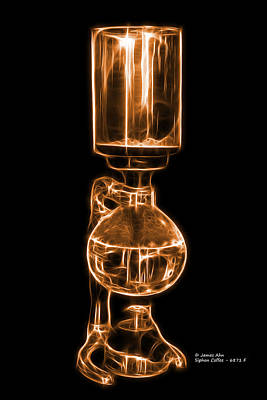 Digital Art - Orange Siphon Coffee 6781 F by James Ahn