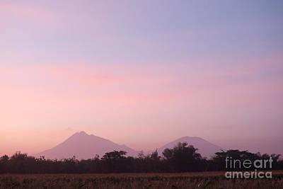 Jawa Photograph - Orange Sky Of Merapi-merbabu Mountain by Danu Primanto