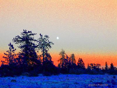 Photograph - Orange Skyline by Jacqueline  DiAnne Wasson